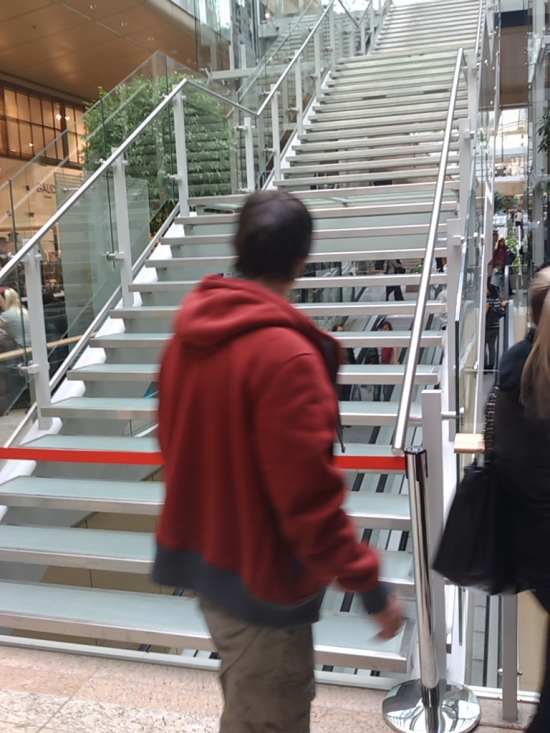 Po schodoch v strede galérie ste zatiaľ ďaleko nezašli