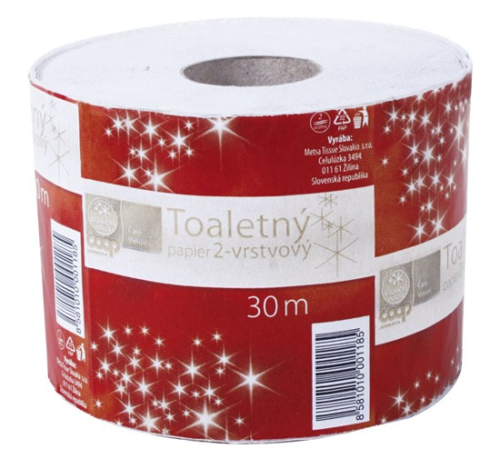 COOP Jednota Čaro vianoc 2010 Toaletný papier