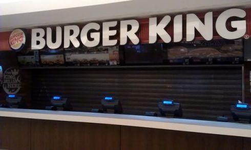 Zatvorený Burger King v nákupnom centre Eurovea Galleria